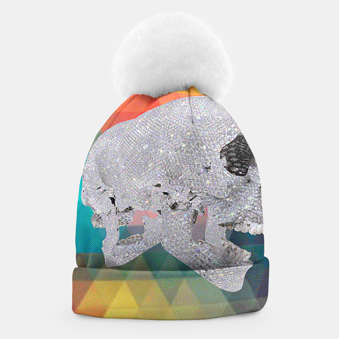 Image of diamond skull chomp Beanie - Live Heroes