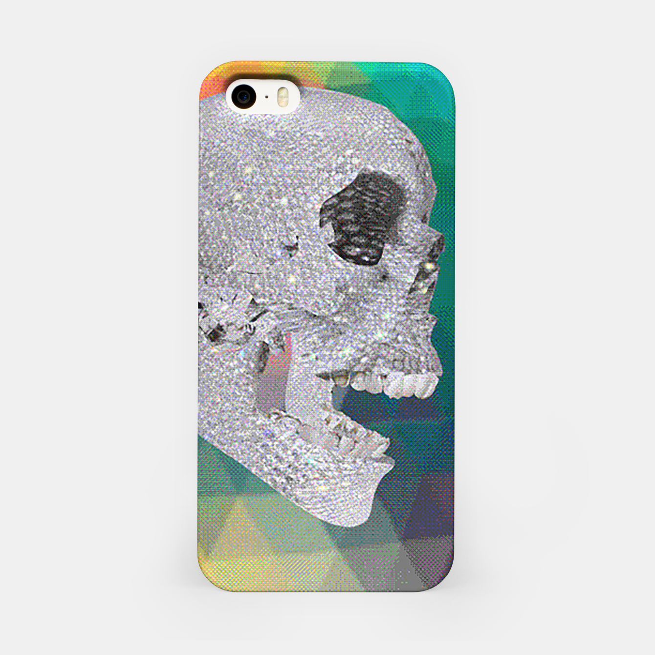 Image of diamond skull chomp iPhone Case - Live Heroes