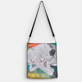 Thumbnail image of diamond skull chomp Handbag, Live Heroes