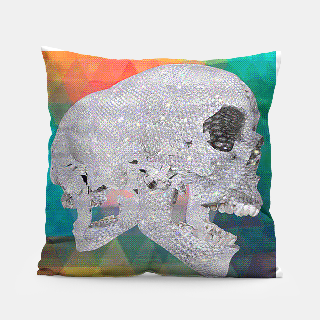 Image of diamond skull chomp Pillow - Live Heroes