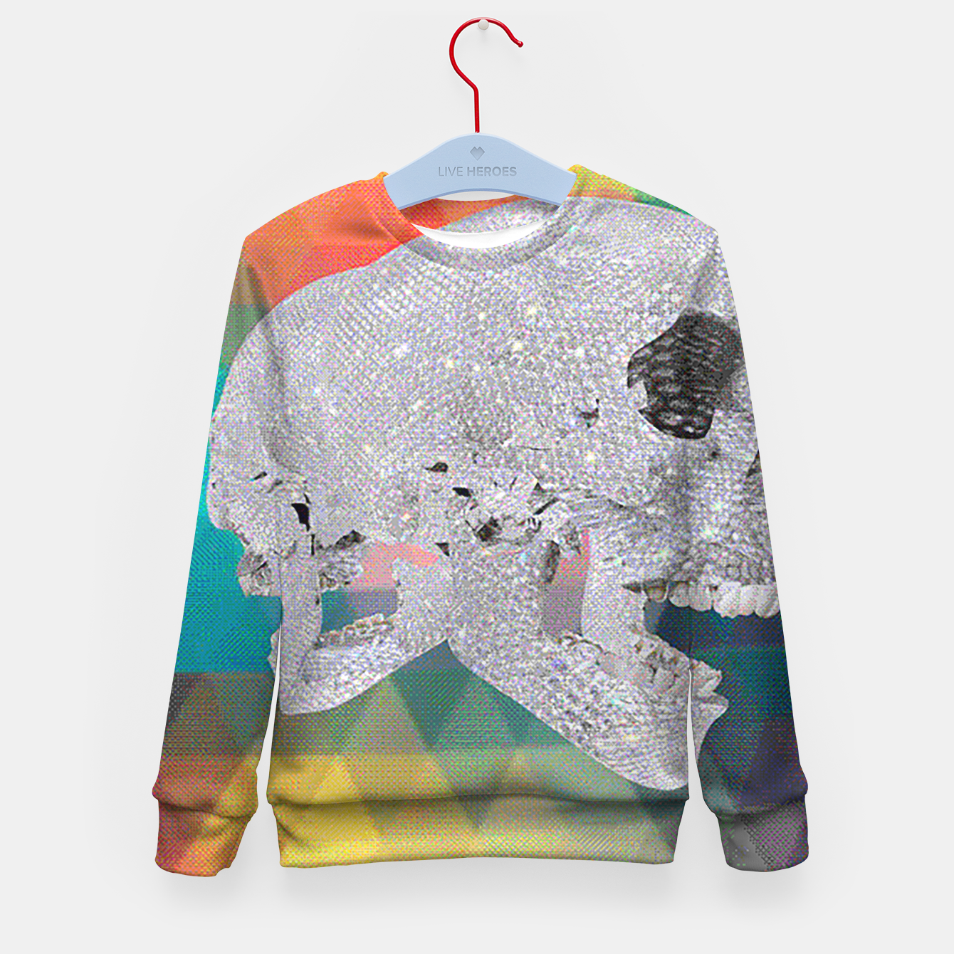Image of diamond skull chomp Kid's Sweater - Live Heroes