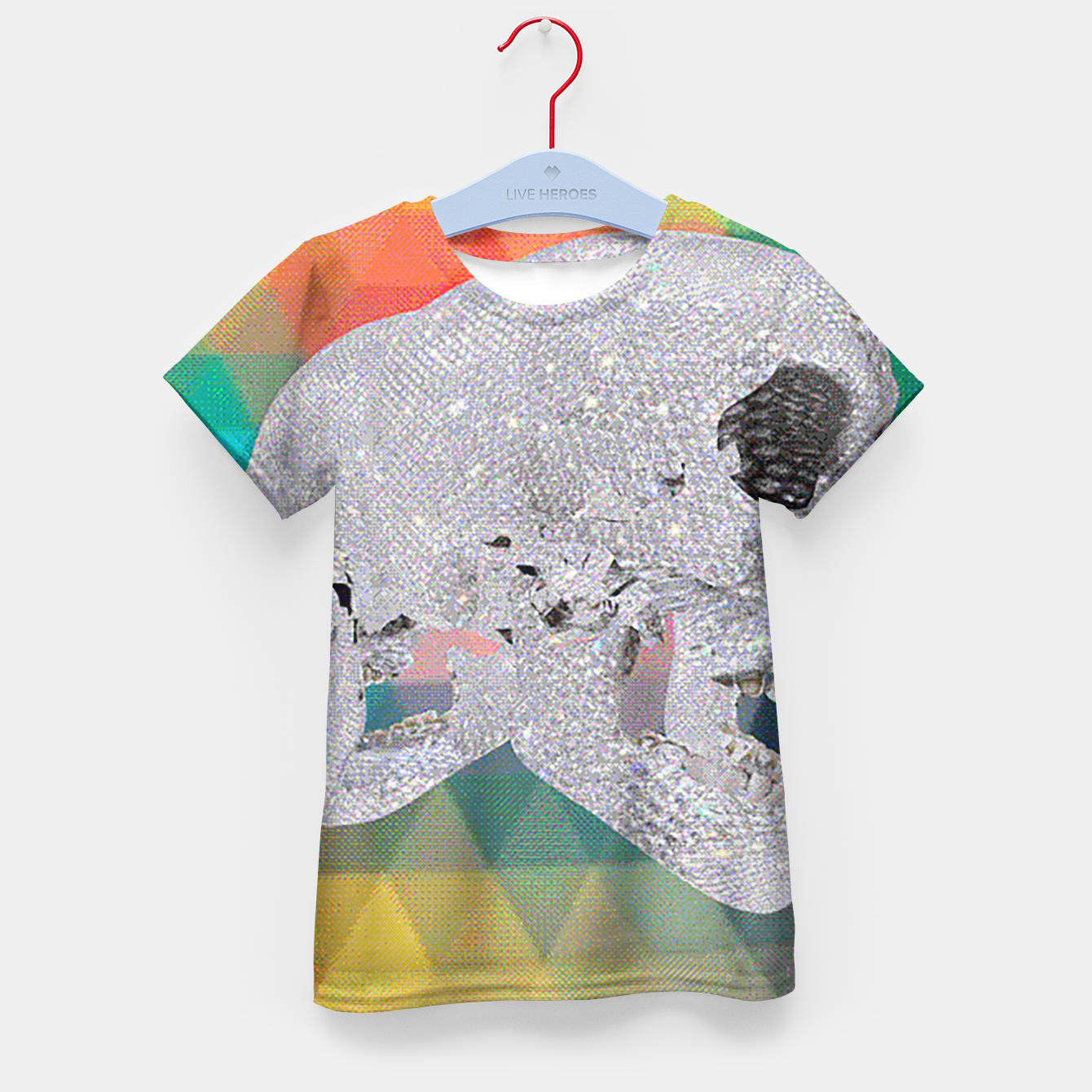 Image of diamond skull chomp Kid's T-shirt - Live Heroes