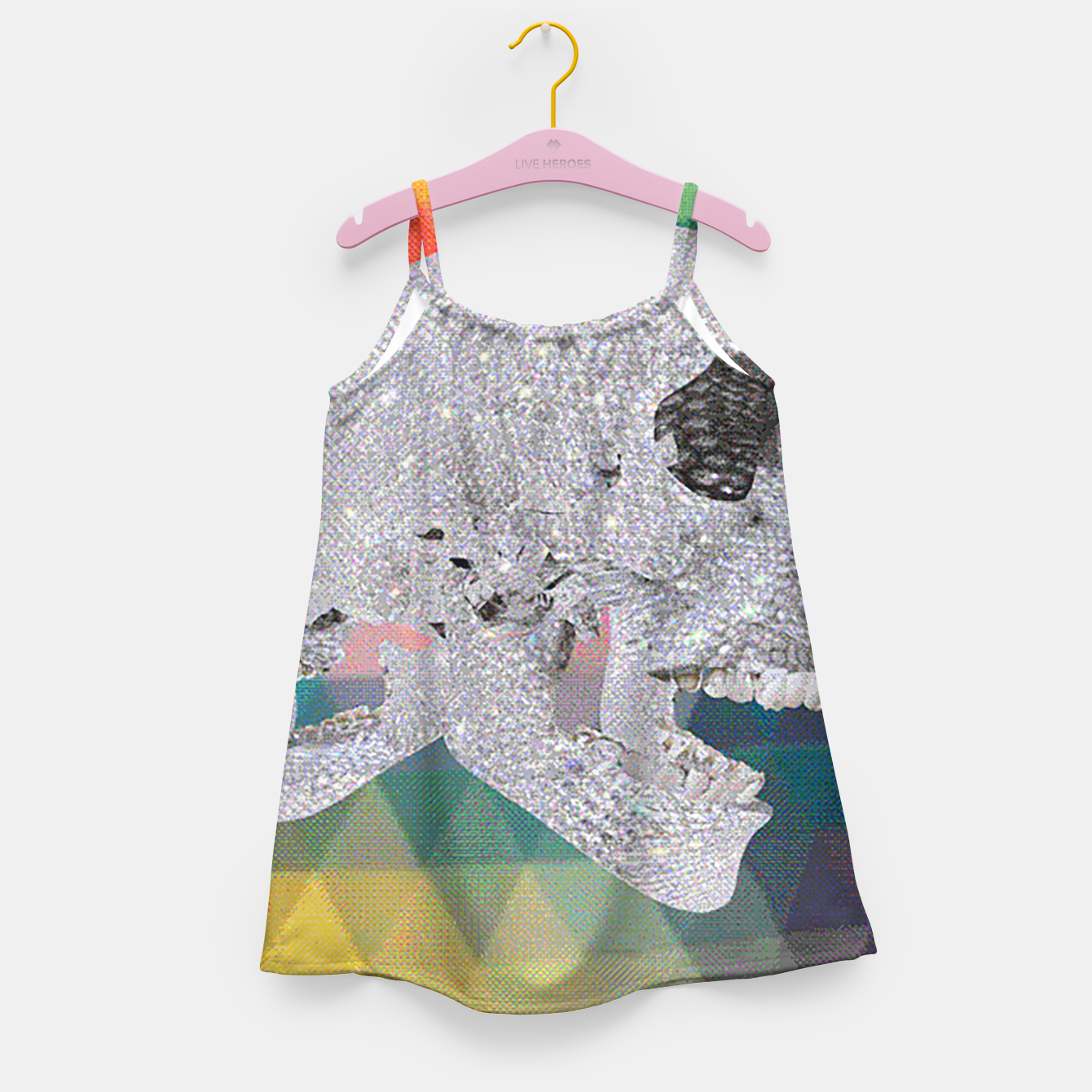 Image of diamond skull chomp Girl's Dress - Live Heroes