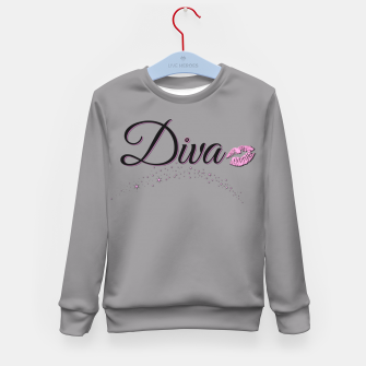 Miniaturka Diva Gray Kid's Sweater, Live Heroes