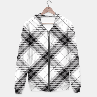 Thumbnail image of Black and White Plaid Hoodie, Live Heroes