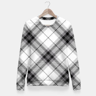 Thumbnail image of Black and White Plaid Fitted Waist Sweater, Live Heroes