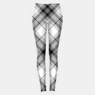 Thumbnail image of Black and White Plaid Leggings, Live Heroes