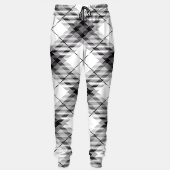 Thumbnail image of Black and White Plaid Sweatpants, Live Heroes