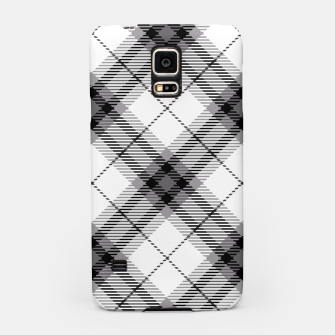 Thumbnail image of Black and White Plaid Samsung Case, Live Heroes