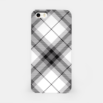 Thumbnail image of Black and White Plaid iPhone Case, Live Heroes