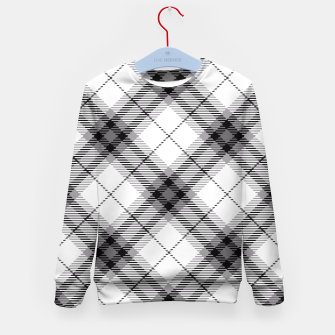 Thumbnail image of Black and White Plaid Kid's Sweater, Live Heroes