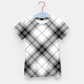 Thumbnail image of Black and White Plaid Kid's T-shirt, Live Heroes