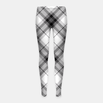 Thumbnail image of Black and White Plaid Girl's Leggings, Live Heroes