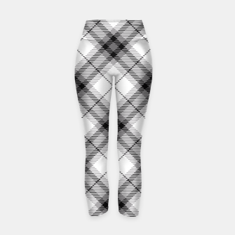 Thumbnail image of Black and White Plaid Yoga Pants, Live Heroes