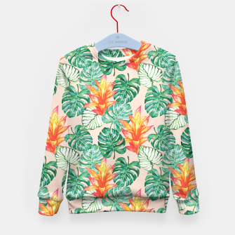 Miniaturka Tropical flowers and leaves Kid's Sweater, Live Heroes