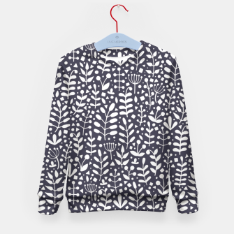 Miniaturka Floral gray pattern Kid's Sweater, Live Heroes
