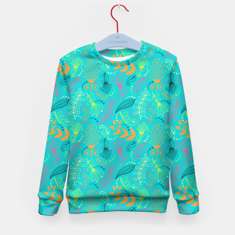 Miniaturka Bright floral pattern with colorful hand drawn doodles Kid's Sweater, Live Heroes
