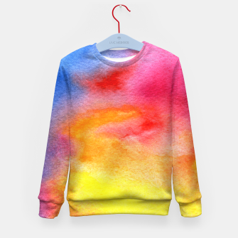 Miniaturka Watercolor colorful galaxy Kid's Sweater, Live Heroes