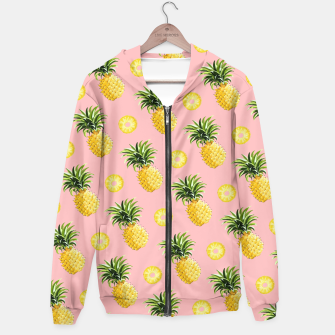 Pineapple and pink Hoodie thumbnail image