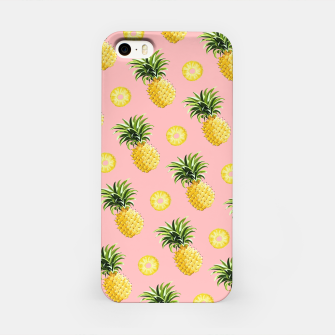 Pineapple and pink iPhone Case thumbnail image