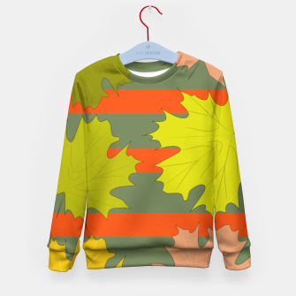 Miniaturka Falling leaves in autumn Kid's Sweater, Live Heroes