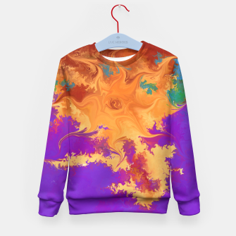 Miniaturka Abstract Sunset Kid's Sweater, Live Heroes