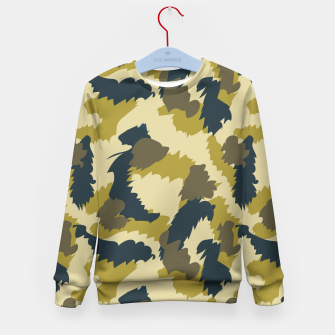 Miniaturka Brown Camo pattern Kid's Sweater, Live Heroes