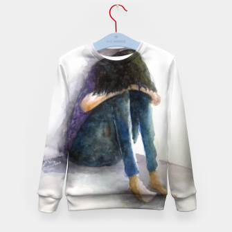 Thumbnail image of sadness Kid's Sweater, Live Heroes