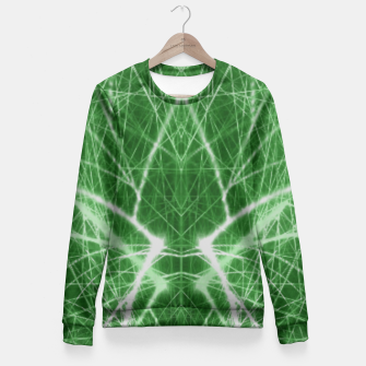 Thumbnail image of Piercing Green Fitted Waist Sweater, Live Heroes