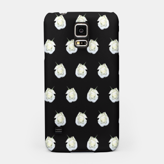 Miniatur FLOWERS: White Rosebuds on Black Samsung Case, Live Heroes