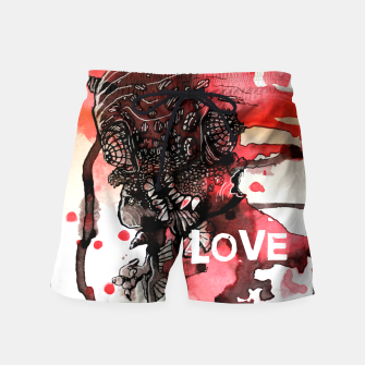 Thumbnail image of Can You Love ME Swim Shorts, Live Heroes