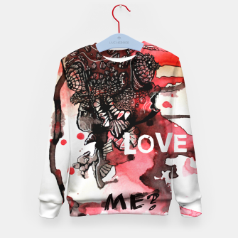 Thumbnail image of Can You Love ME Kid's Sweater, Live Heroes