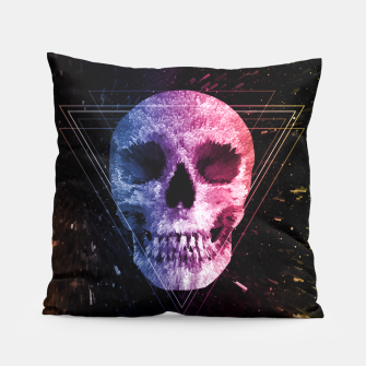 Thumbnail image of Skull/Triangle Pillow, Live Heroes