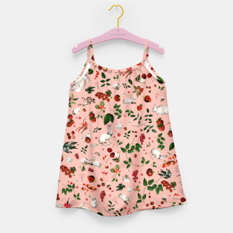 Sweet Bunny pink Kid Dress thumbnail image