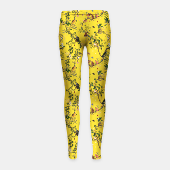 Monkey World yellow kids Leggings thumbnail image
