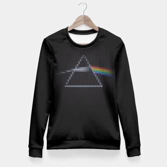 Miniature de image de The Dark Side of The Ugly Christmas Sweater (Cool Dark Side of the Moon Music Parody) T-Shirt Fitted Waist Sweater, Live Heroes
