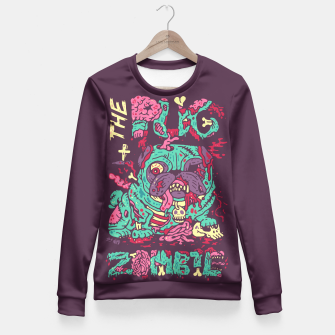 Imagen en miniatura de The Pug Zombie Fitted Waist Sweater, Live Heroes
