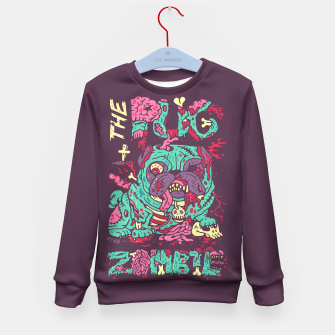 Thumbnail image of The Pug Zombie Kid's Sweater, Live Heroes