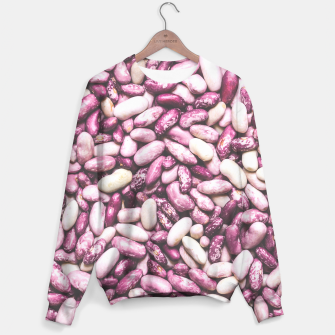 Shiny white and purple cool beans Sweater thumbnail image