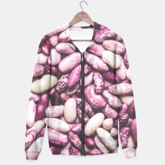 Shiny white and purple cool beans Hoodie thumbnail image