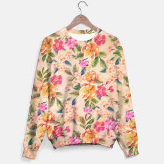 Miniature de image de Golden Flitch (Digital Vintage Retro / Glitched Pastel Flowers - Floral design pattern) Sweater, Live Heroes