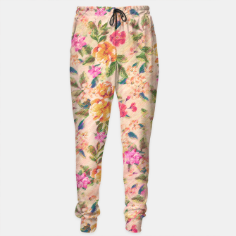 Miniature de image de Golden Flitch (Digital Vintage Retro / Glitched Pastel Flowers - Floral design pattern) Sweatpants, Live Heroes