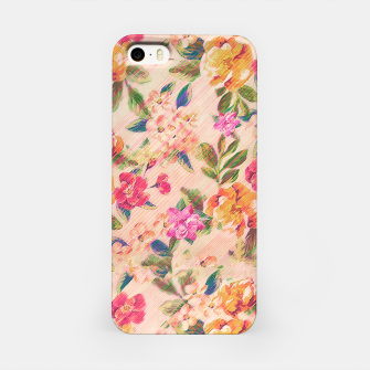 Miniature de image de Golden Flitch (Digital Vintage Retro / Glitched Pastel Flowers - Floral design pattern) iPhone Case, Live Heroes