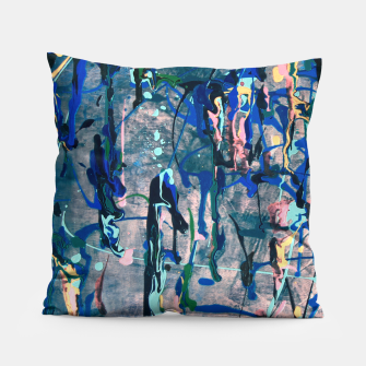 Chrome (action painting) Pillow miniature