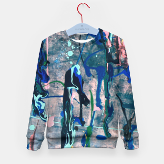 Chrome (action painting) Kid's Sweater thumbnail image