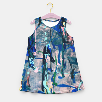 Chrome (action painting) Girl's Summer Dress thumbnail image