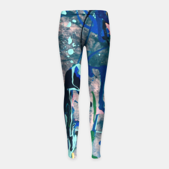 Chrome (action painting) Girl's Leggings miniature