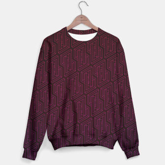 Miniature de image de Geometric Illusion pattern in deep red Sweater, Live Heroes
