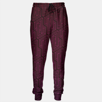 Miniature de image de Geometric Illusion pattern in deep red Sweatpants, Live Heroes
