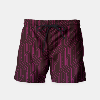 Miniature de image de Geometric Illusion pattern in deep red Swim Shorts, Live Heroes